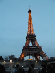 The Eiffel Tower looking absolutely amazing when it's lit up