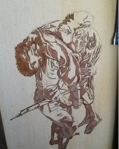 sam carrying frodo - oil painting - art - underpainting - lord of the rings