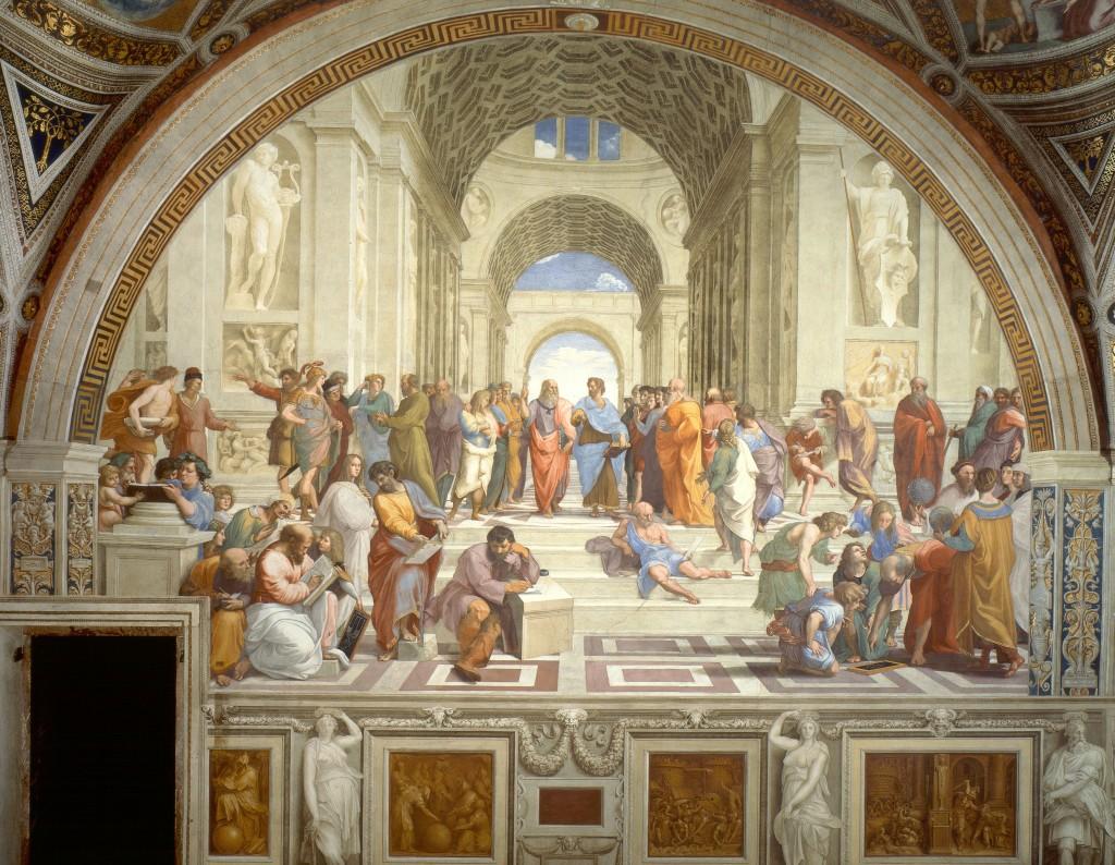 Raphael - The School of Athens - 1509-11 - Oil Painting - Florence - Ancient - Greece - Greek - Philosophers - Philosophy - Renaissance