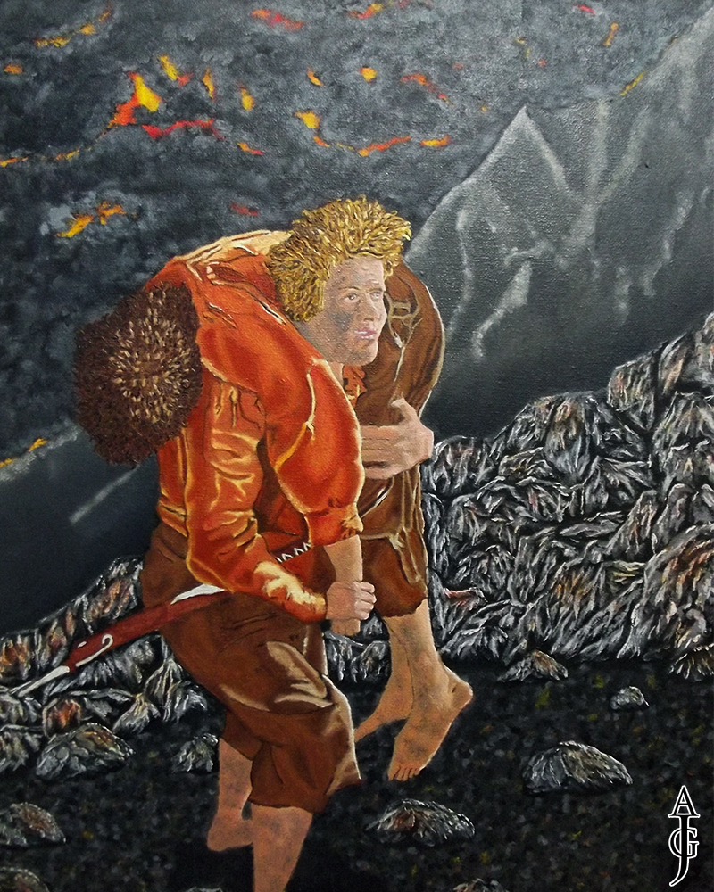 Sam Carrying Frodo-Painting-Oil Painting-Art-Fine Art-LOTR-Lord of the Rings-Tolkien