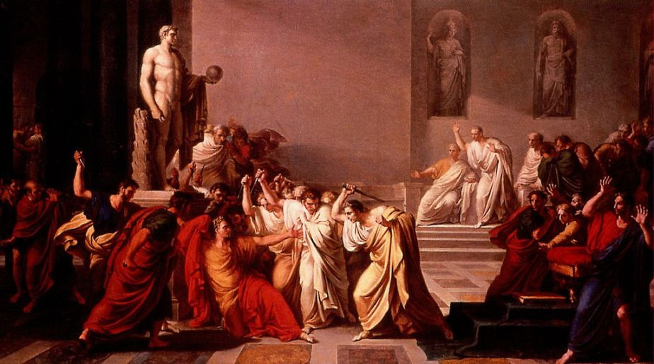 Julius Caesar-Ancient Rome-The Death of Julius Caesar-Assassination-Painting-Art-Oil Painting-Vincenzo Camuccini