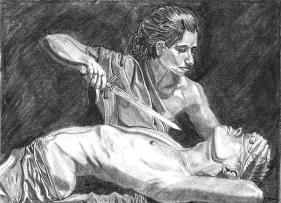 assassination woman female emperor history ancient fantasy art illustration drawing biblical lore fine art j glover josh glover artist