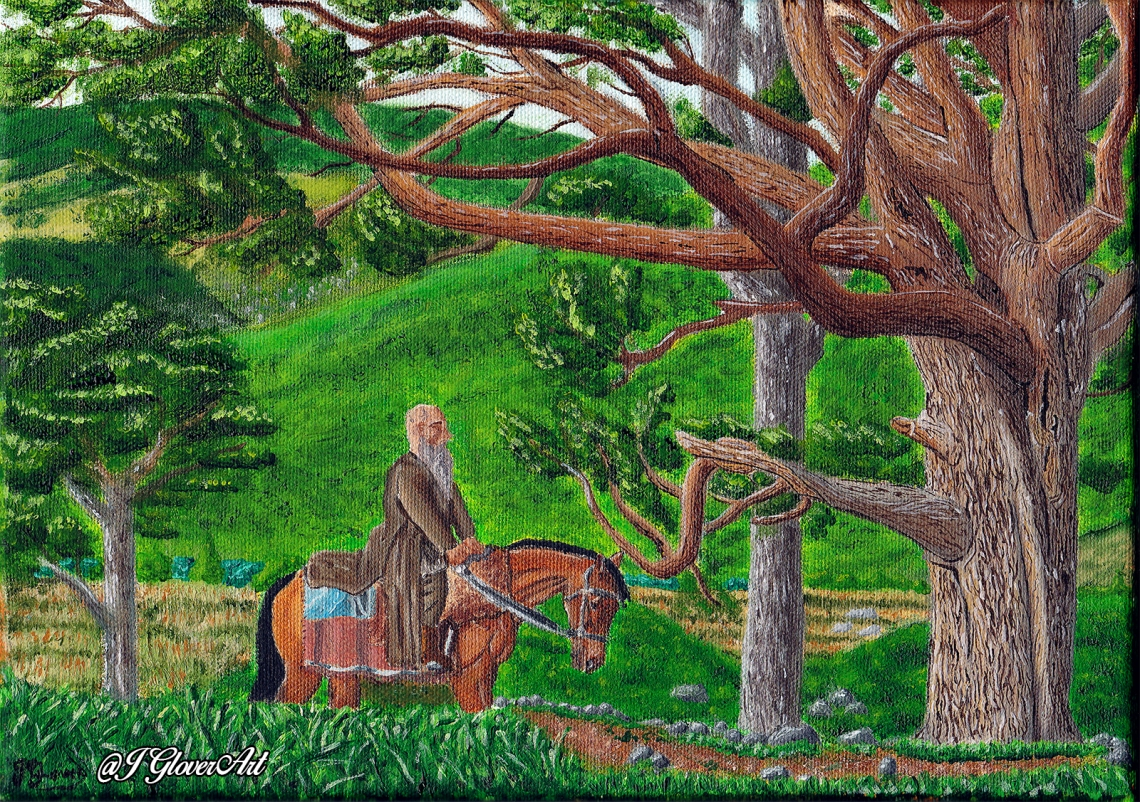 Ragnar lodbrok lothbrok viking vikings art painting fan art oil painting illustration history fantasy horse landscape josh glover