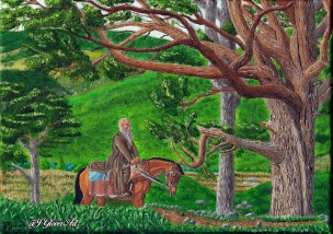 Ragnar lodbrok lothbrok viking vikings art painting fan art oil painting illustration history fantasy horse landscape josh glover