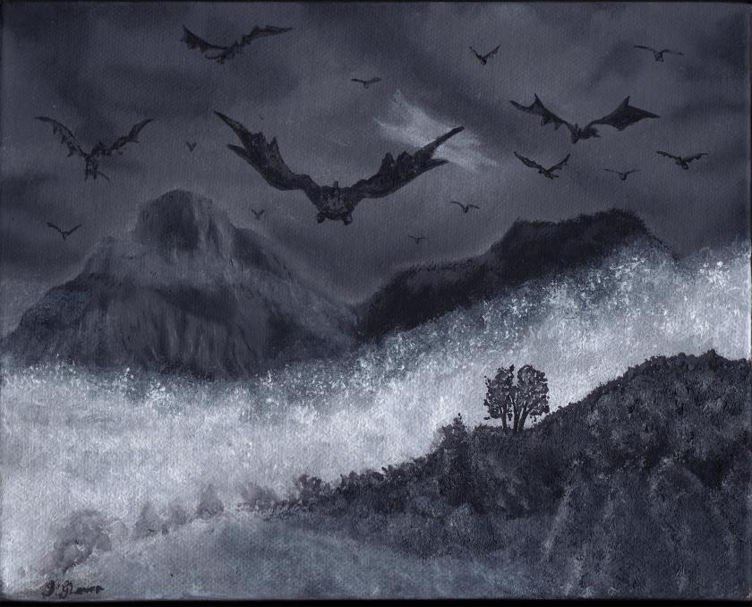 dragons in flight flying dragon oil painting fantasy art illustration lotr history mythology
