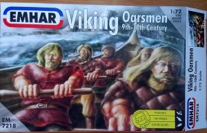 Viking longship gokstad oarsmen model miniature emhar art josh glover