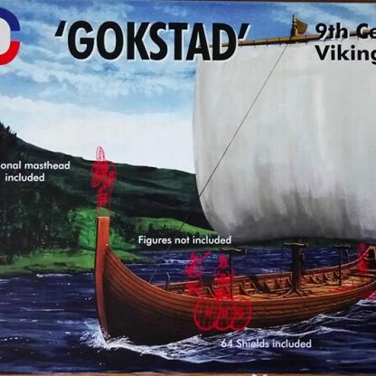 Viking longship gokstad model miniature emhar art josh glover