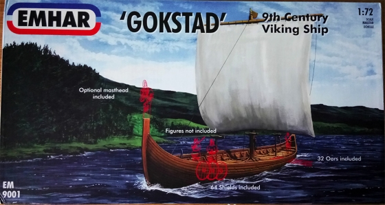 Viking longship gokstad model miniature emhar art josh glover
