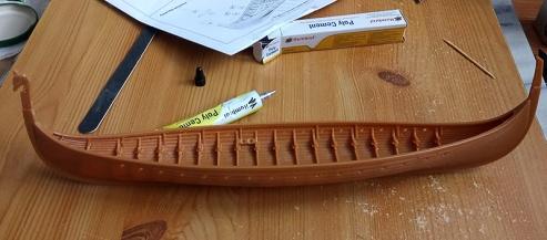 JGlover Art - Emhar Gokstad Viking Long Ship Build 3