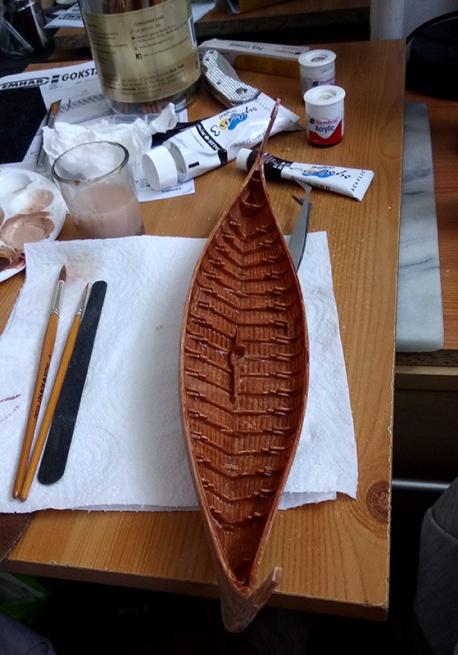 JGlover Art - Emhar Gokstad Viking Long Ship Build 5