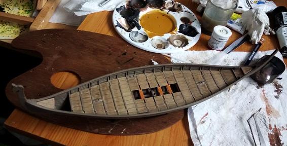 JGlover Art - Emhar Gokstad Viking Long Ship Build 6