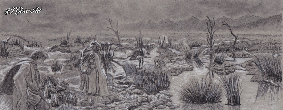 Passage of the Marshes – PreliminaryDrawing