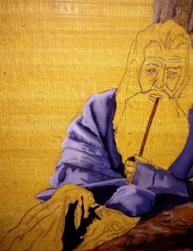 Gandalf oil painting 1