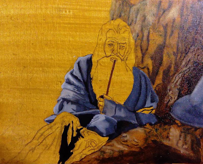 Gandalf oil painting 2