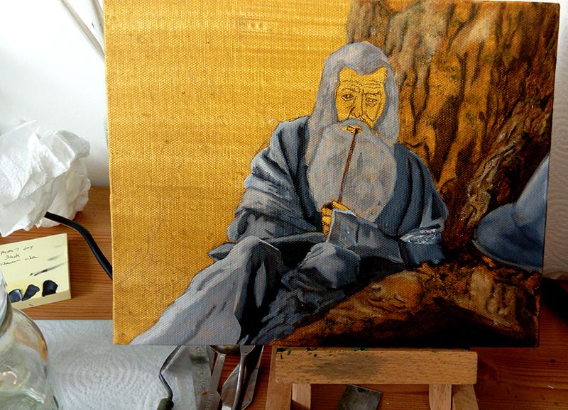Gandalf oil painting 3