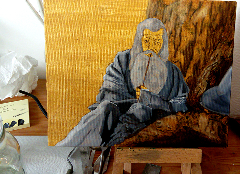 Gandalf oil painting 3