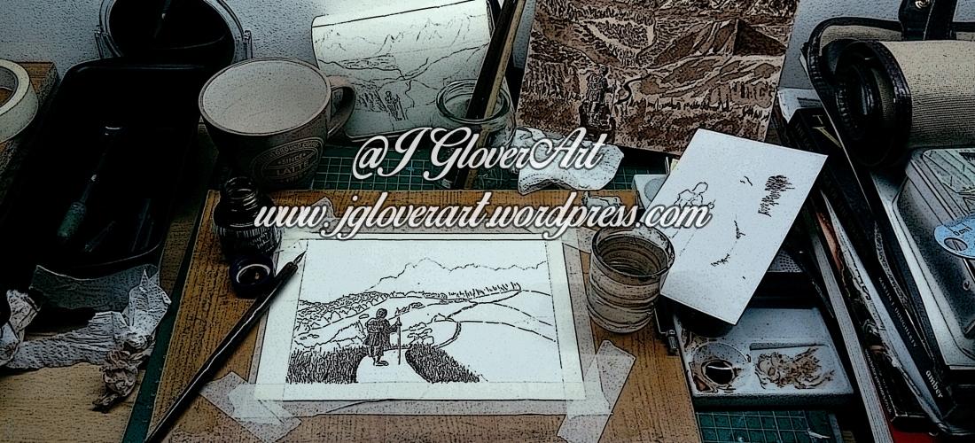 ink drawing road goes ever on bilbo baggins hobbit lotr art artist illustration john howe alan lee