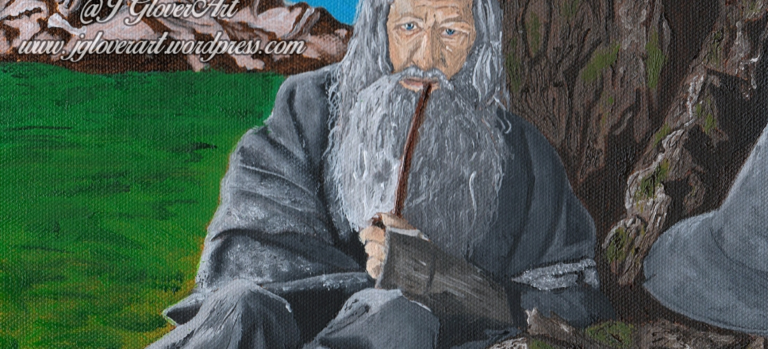 gandalf the grey oil painting art illustration lord of the rings lotr tolkien picture john howe alan lee j glover josh glover