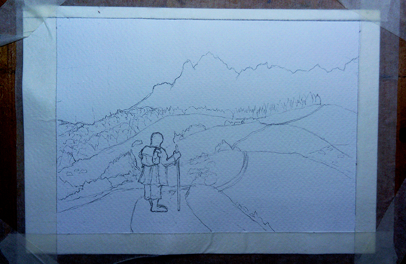 The Road Goes Ever On final Sketch
