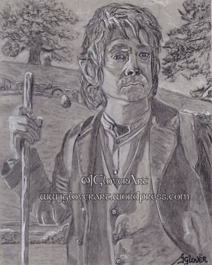 bilbo baggins the hobbit jrr tolkien the lord of the rings tv series fantasy art illustration