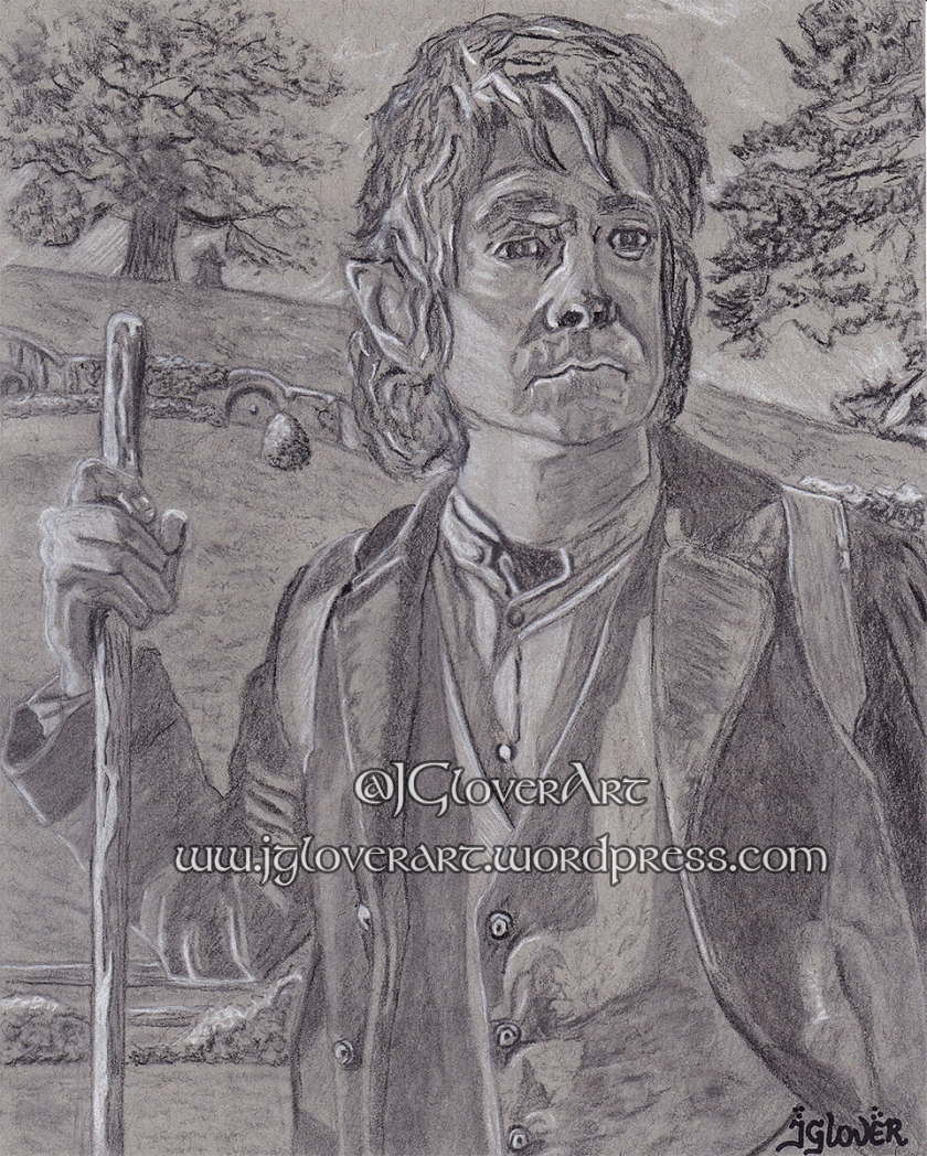 bilbo baggins the hobbit jrr tolkien the lord of the rings tv series fantasy art illustration