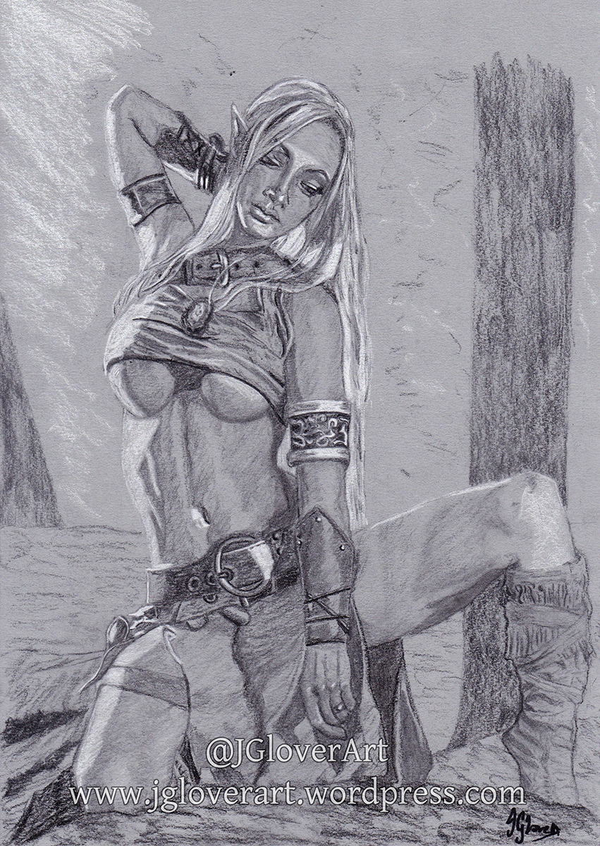 steamgirl kato drawing sketch elf elven fantasy art photography beautiful sexy alluring seductive beauty art illustration lotr