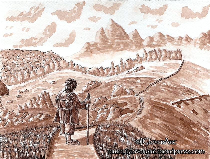 the road goes ever on art drawing illustration alan lee john howe josh glover hobbit tolkien lotr