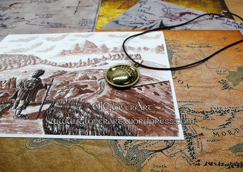 Road Goes Ever On Giclee Print - J Glover Art - Josh Glover - Lord of the rings - the hobbit - print - illustration - fantasy art - calligraphy