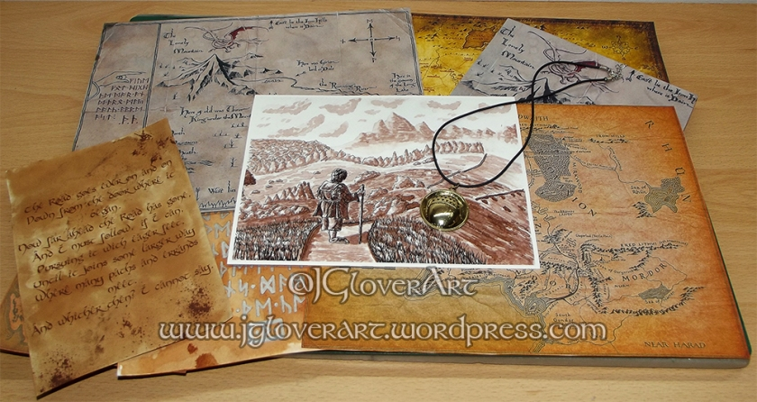 Road Goes Ever On Giclee Print - JGlover Art - Lord of the rings - the hobbit - print - illustration - fantasy art - calligraphy