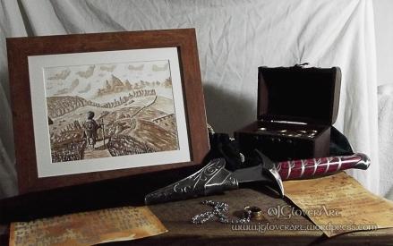 Road Goes Ever On Still Life - JGloverArt - Lord of the rings - the hobbit - tv series - print - illustration - fantasy art
