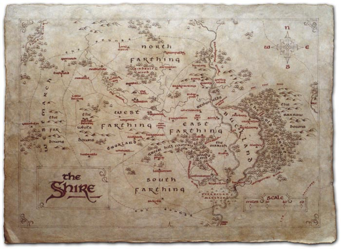 shire map hobbiton atlas middle earth hobbi hobbits jrr tolkien lotr lord of the rings fantasy art illustration calligraphy daniel reeve