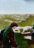 Passage of The Marshes WIP 3 LOTR art oil painting illustration lord of the rings tv xeries amazon mordor frodo and sam gamgee baggins