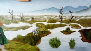 Passage of The Marshes WIP 4 LOTR art oil painting illustration lord of the rings tv xeries amazon mordor frodo and sam gamgee baggins