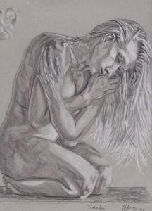 natasha legeyda drawing suicide girls style erotica figure study classical drawing atelier art artist illustration female nude form behind anatomy fine art