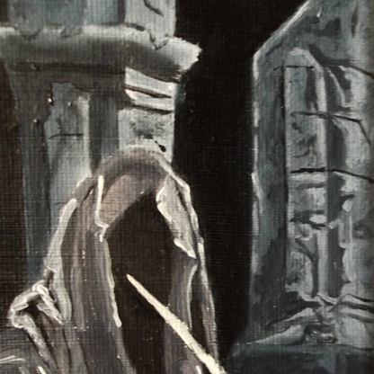 Oil painting essex artist illustrator illustration lotr lord of the rings tv series concept art drawing painting nazgul ringwraiths angmar london