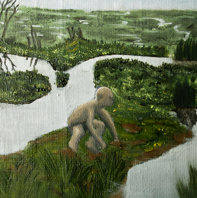 Gollum passage dead marshes detail shot oil painting lotr lord of the rings amazon tv series concept art illustration fantasy tolkien jglover josh glover