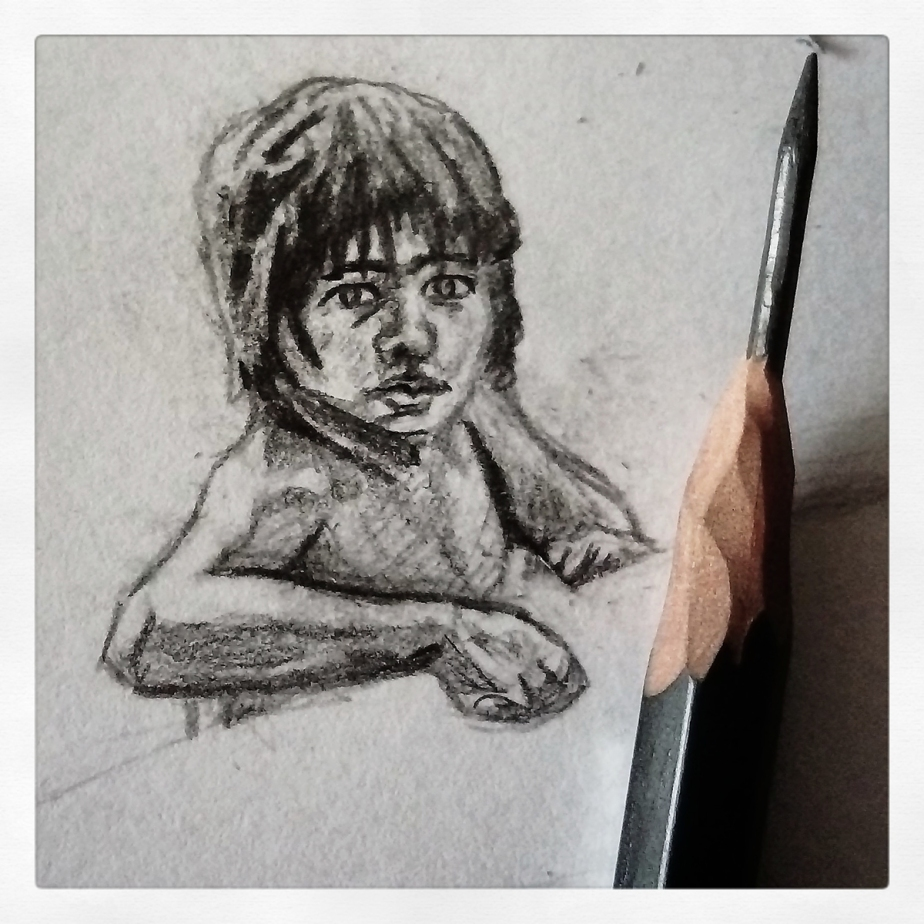 Mowgli jungle book pencil sketch sketchbook art illustration disney rudyard kipling drawing josh glover jglover art children book