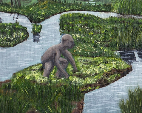 Gollum passage of the marshes lord of the rings artwork oil painting illustration amazon tv series concept art landscape fantasy
