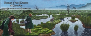 passage of the marshes lord of the rings artwork oil painting illustration amazon tv series concept art landscape fantasy