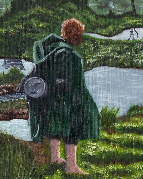 Samwise Gamgee passage of the marshes lord of the rings artwork oil painting illustration amazon tv series concept art landscape fantasy