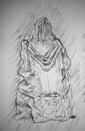gandalf in moria sketch 1