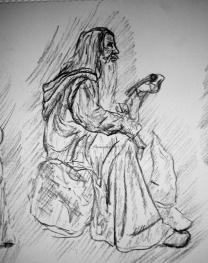 gandalf in moria sketch 2