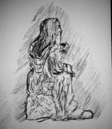 gandalf in moria sketch 3
