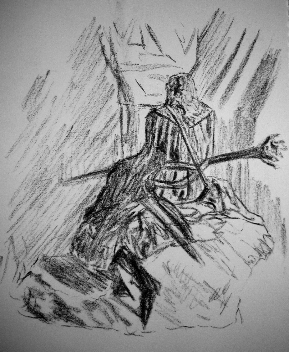 Gandalf In Moria – Preliminary Sketches & Ideas For A New Lord Of The Rings Illustration