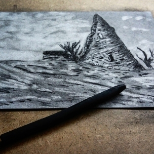 hadleigh castle tower landscape drawing charcoal study john constable turner painting art artist black and white