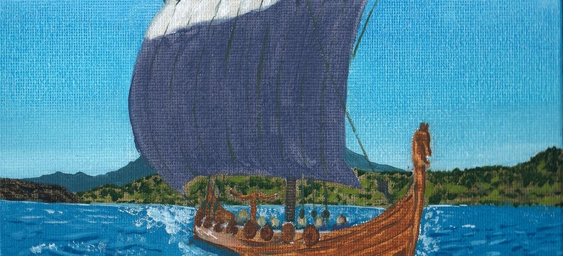 viking longship longboat vikings history concept art seascape painting illustration artwork ragnar fantasy
