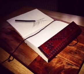 Camden Market Sketchbook leather bound hand made vintage history art drawing sketch