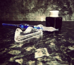 Ink drawing glass dip pen still life photo photography
