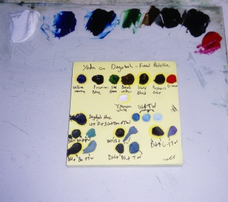The Outcome - My Final Colour Palette, the Backbone of the Painting!
