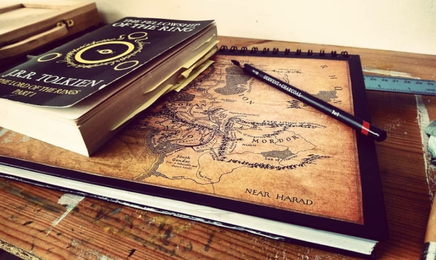 Middle earth sketchbook lotr tolkien lord of the rings still life photograph